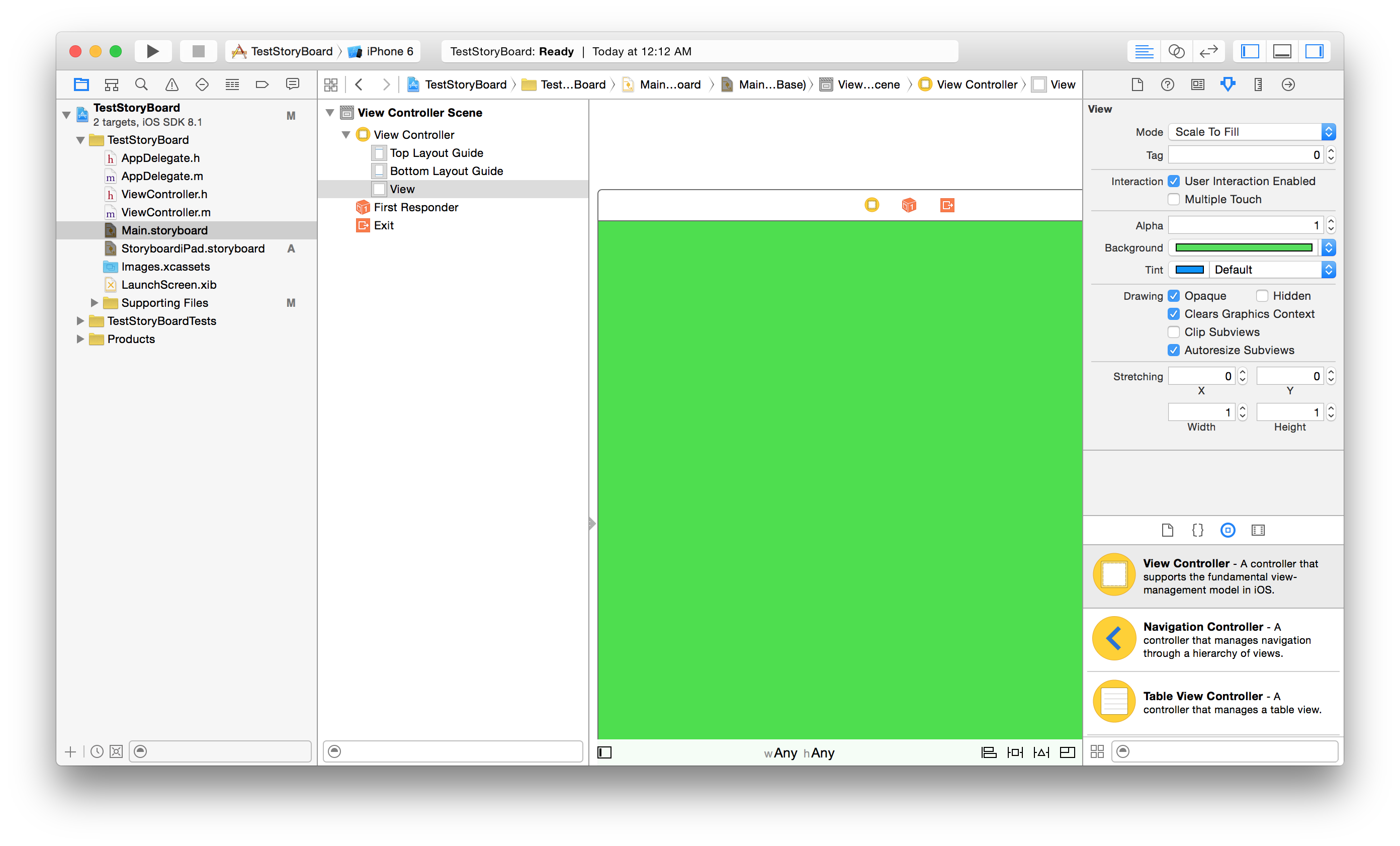Background image xcode 6 - Iphone Color